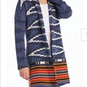 Pendleton Blue Sweater Open Duster L
